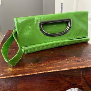 Hobo International lime green clutch & wristlet
